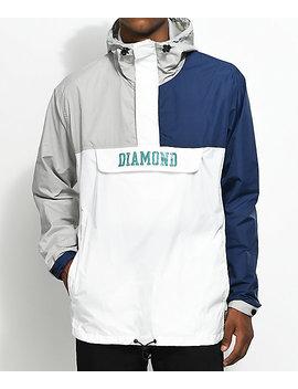 Diamond Supply Co. Drexel Blue, White &Amp; Grey Anorak Jacket by Diamond Supply