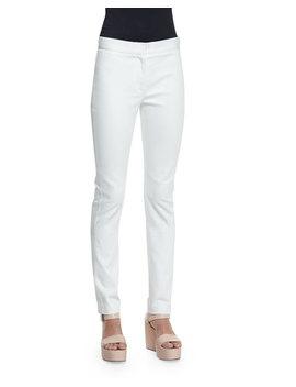 Hanne Mid Rise Slim Leg Jeans, White by Derek Lam