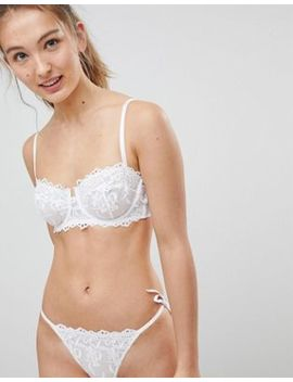 New Look Cotton Embroidered Lace Bra by New Look