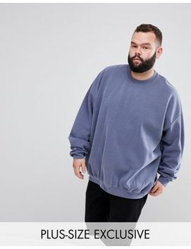 Reclaimed Vintage Inspired Plus Oversized Overdye Sweat by Reclaimed Vintage