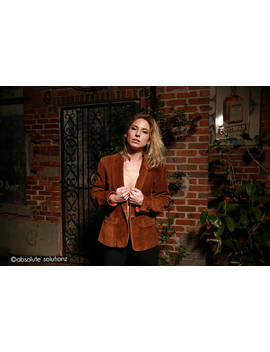 Vintage 70's Suede Jacket // Single Front Button by Etsy