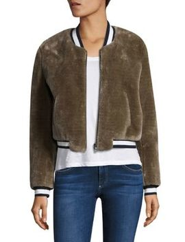 Arleigh Faux Shearling Bomber Jacket by Joie