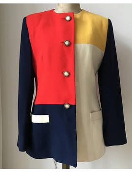 Vintage Fabulous Colorful '80's Jacket Or Blazer, Size Usa 8/ Eur 38 40 by Etsy