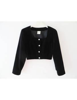 Vintage Black Velvet Blazer Cropped Jacket Velveteen Jacket Black Velvet Jacket Black Women Blazer Fitted Velvet Jacket Dirndl Style Jacket by Etsy