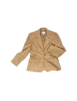 Butterscotch Grid Print Silk + Wool Blazer by Etsy