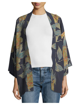 Drew Floral Print Open Front Short Kimono by Elizabeth And James