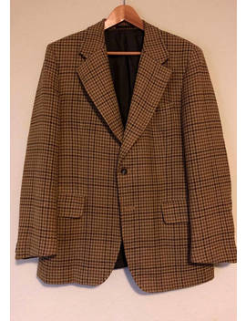 Vintage Burberry Lambswool Gun Club Check Brown Sport Coat 40 Ivy League by Etsy