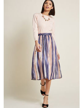 Style Saga Chiffon Midi Skirt Style Saga Chiffon Midi Skirt by Modcloth