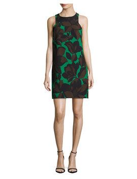 Sleeveless Floral Print Cady Minidress by Neiman Marcus
