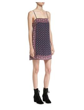 Adryel Sleeveless Printed Slip Dress by Neiman Marcus