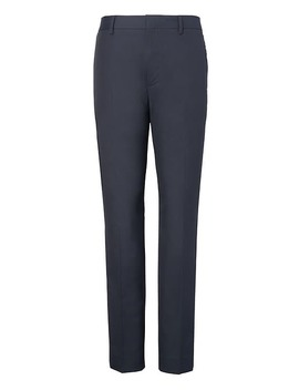 Tapered Non Iron Stretch Cotton Pant by Banana Repbulic