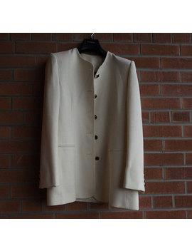 Vintage Jacket, White Wool Jacket, Formal Blazer, Retro Blazer, Emilio Bravini Jacket, 1990s Jacket, Made In Toronto, Canada, Elegant Jacket by Etsy