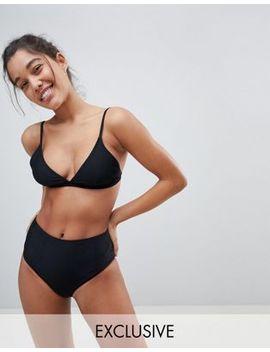 Braguitas De Bikini De Talle Alto De Warehouse by Asos