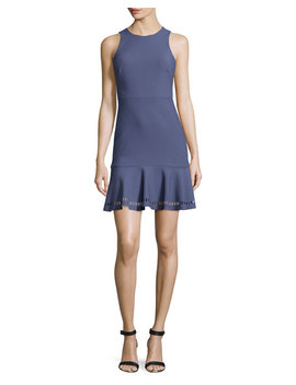 Hadley Fit And Flare Ponte Dress, Indigo by Neiman Marcus