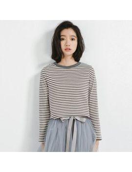 Striped Long Sleeve T Shirt by Somui