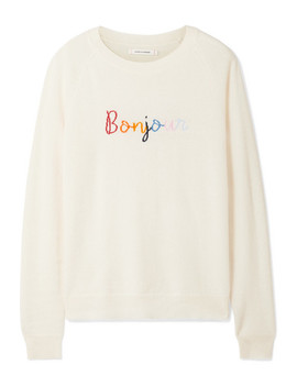 Pull En Cachemire Intarsia Bonjour Bonsoir by Chinti And Parker