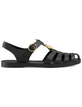 Rubber Buckle Strap Sandals by Gucci