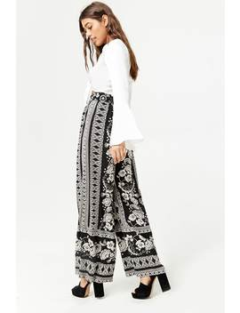 Floral Tribal Inspired Wide Leg Pants by Forever 21