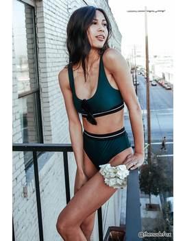 Contrast Stripe Bikini Bottoms by F21 Contemporary