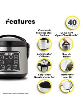 Aroma 8 Cup Digital Rice Cooker And Food Steamer by Aroma