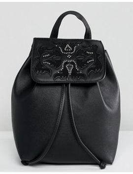 Bershka Western Detail Backpack With Drawstring by Bershka