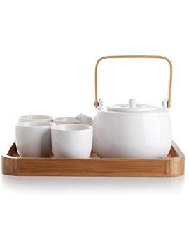 Casa Ware Serenity 7 Piece Tea Pot Set (White) by Casa Ware