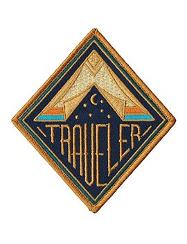 Asilda Store Traveler Embroidered Sew Or Iron On Patch by Asilda Store