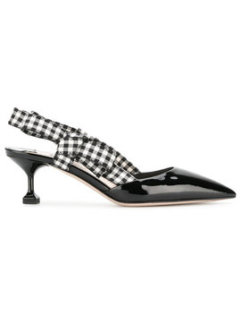 Gingham Detail Pumps by Miu Miu