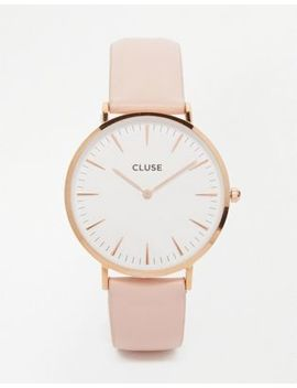 Cluse La Boheme Rose Gold & Pink Leather Watch Cl18014 by Watch