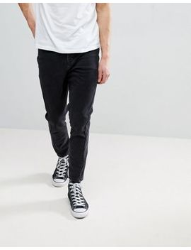 Asos Skinny Twisted Seam Jeans In Black by Asos