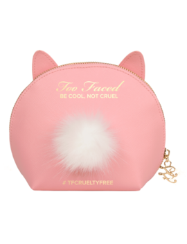 Pink Cool Not Cruel Bunny Makeup Bag by Too Faced