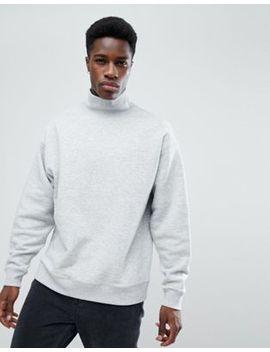 Weekday Big Turtleneck Sweatshirt Grey by Weekday