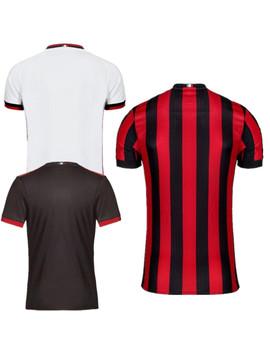 2017 Adults T Shirt Ac Milan Shirts 2017 2018 Top Quality Calhanoglu Bonucci Leisure Adults Casual Kaka T Shirts Free Shipping by Aa Tops Men Shirts Store