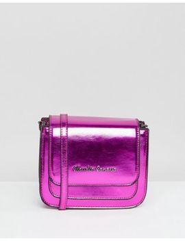 Claudia Canova Pink Metallic Cross Body Bag by Cart