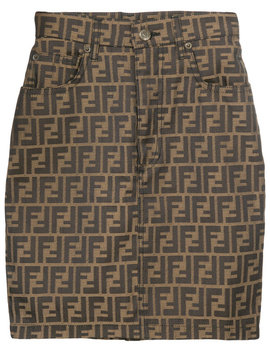 Vintage Zucca Pattern Skirt by Fendi Vintage