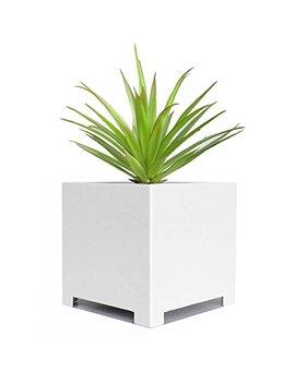 """Alora Cube Planter   White   18"""" X 18"""" X 18"""" by Nmn Designs"""