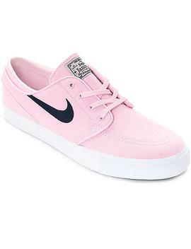 Nike Sb Janoski Prism Pink &Amp; Navy Canvas Skate Shoes by Nike Sb