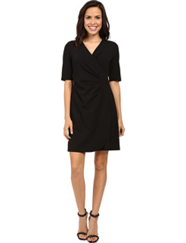 V Neck Side Rouched Wrap Dress by Adrianna Papell