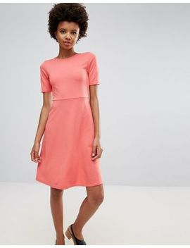 Ichi Short Sleeve Fit & Flare Dress by Casual Dress