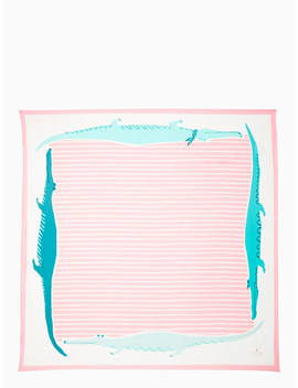 Alligator Silk Square Scarf by Kate Spade