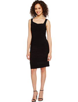 Variegated Striped Banded Jersey Sheath Dress by Adrianna Papell