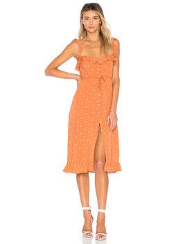 Natalia Dot Midi Dress by For Love & Lemons