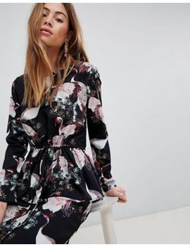 Vila Bird Print Dress by Vila