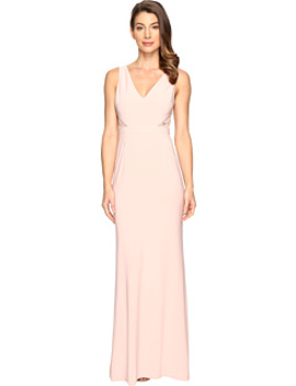 Jersey Sleeveless Gown W/ Cutouts by Adrianna Papell