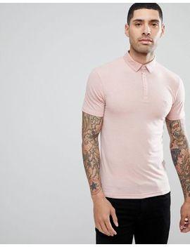 Process Black Plain Stretch Polo Shirt by Polo Shirt