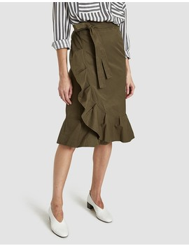 Allen Skirt In Moss Green by Need Supply Co.