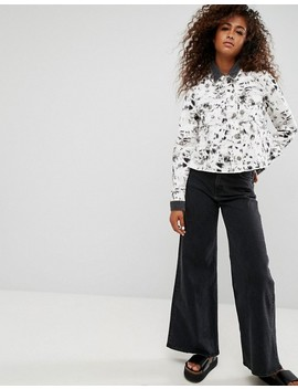Asos Denim Reconstructed Double Collar Jacket by Asos Collection