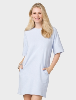 Tie Sleeve Sweatshirt Dress by Dressbarn