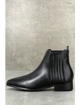 Edie Black Ankle Booties by Lulu's