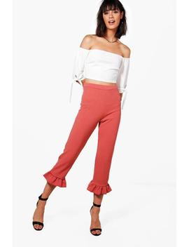 Hannah Crop & Frill Trouser Co Ord by Boohoo